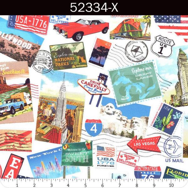 American Road Trip Fabric