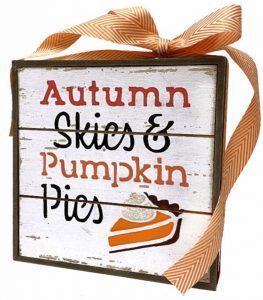 DIY Pumpkin Pie Slat Box