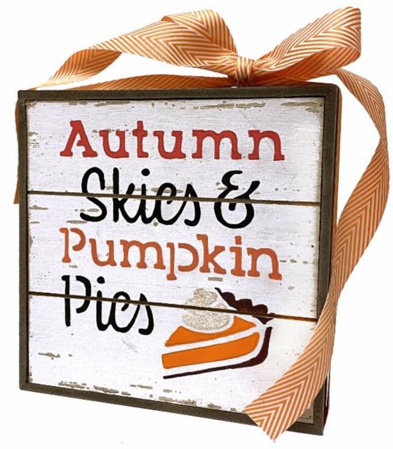 DIY Pumpkin Pie Slat Box