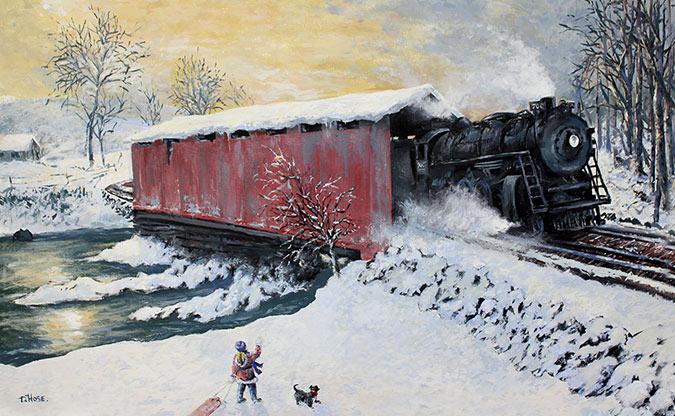 David Hose Canvas - winter scene