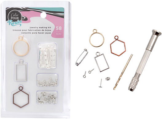 Color Pour Resin Jewelry Making Kit