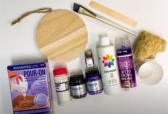 DIY Resin Geode Plaque Supplies