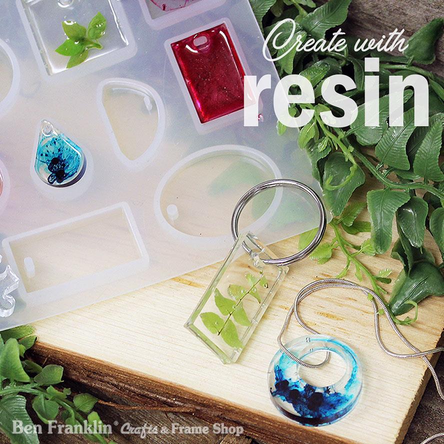 Resin jewelry samples