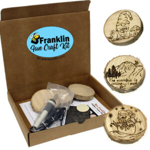 Wood Burning Coasters Kit
