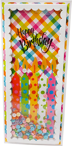 DIY Birthday Shaker Card