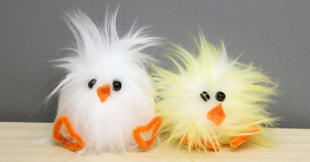 DIY Easter Fur Chick