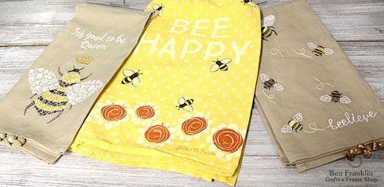 Happy Bee Towels