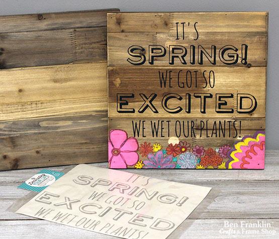 DIY Spring Pallet