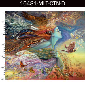 SPIRIT OF FLIGHT by Josephine Wall for 3 Wishes Fabric