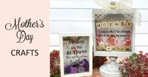 Letter Tile Shadowbox for Mom