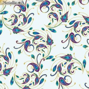 Peacock Flourish fabric