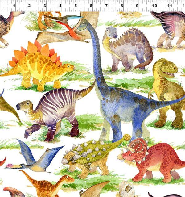 Dinosaur Friends Fabric
