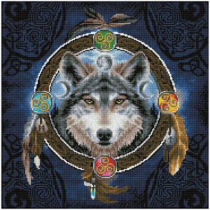 Diamond Painting Celtic Wolf Guide
