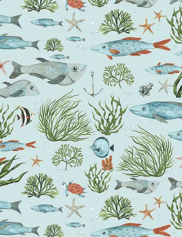Hook Line and Sinker Fabric