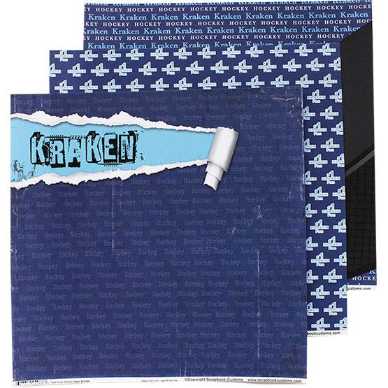 Seattle Kraken scrapbook paper
