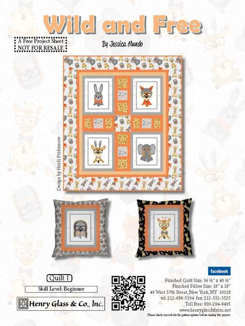 Wild and Free Quilt Pattern