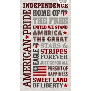 My America fabric by Deborah Edwards for Northcott - PANEL