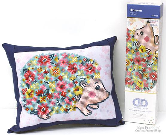 Diamond Dotz Hedge Hog pillow project