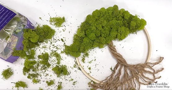 How to make a moss tree wall art