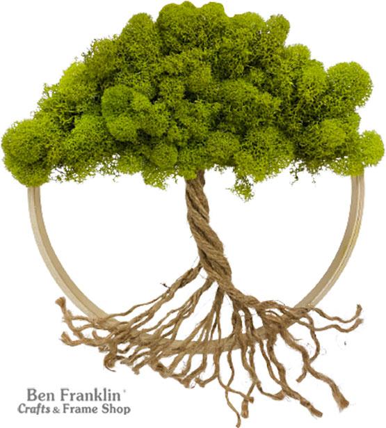 DIY Moss Tree Wall Art
