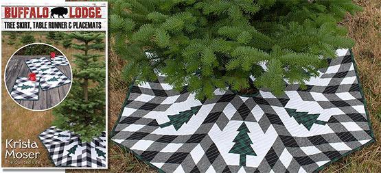 Buffalo Plaid Tree Skirt Pattern by Krista Moser