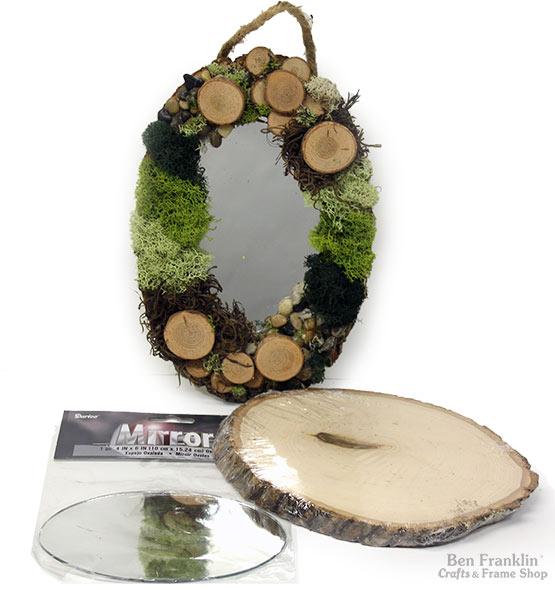 Moss Art Woodsy Mirror