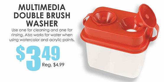 Multimedia Double Brush Washer