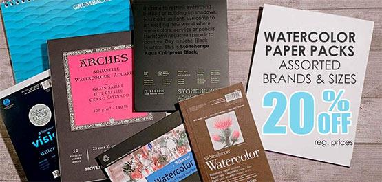 Watercolor Paper Packs sale