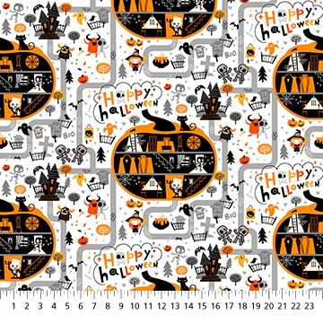 Ghoultide Gathering Fabric - 10018-10