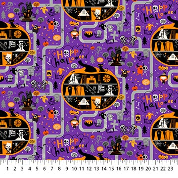 Ghoultide Gathering Fabric - 10018-84