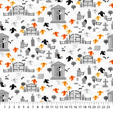 Ghoultide Gathering Fabric - 10019-10