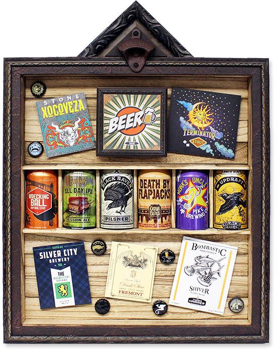 Custom Framed Beer Display