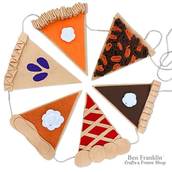 DIY Felt Pie Banner