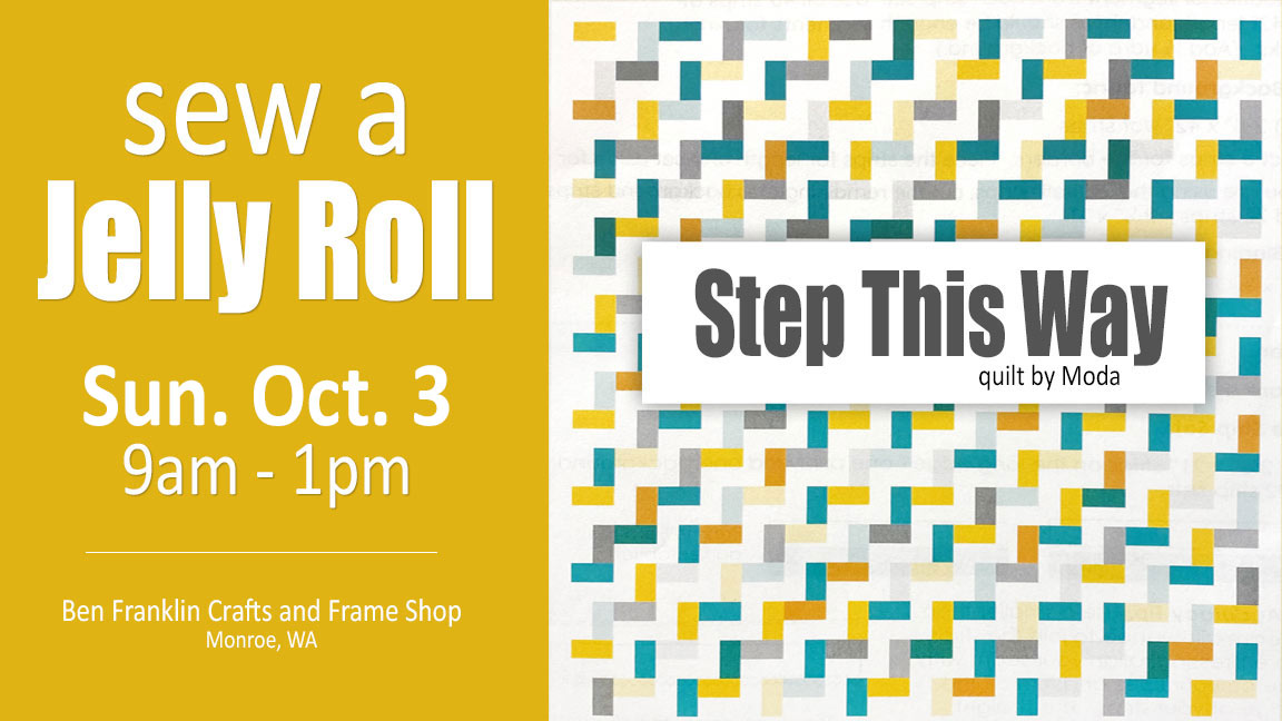 Jelly Roll Class Step This Way Quilt