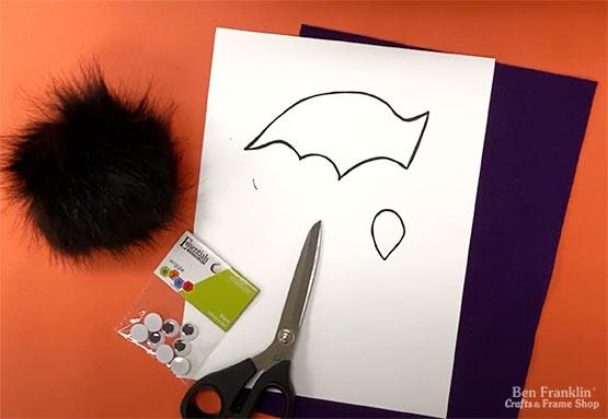 DIY Pom Pom Bat Supplies