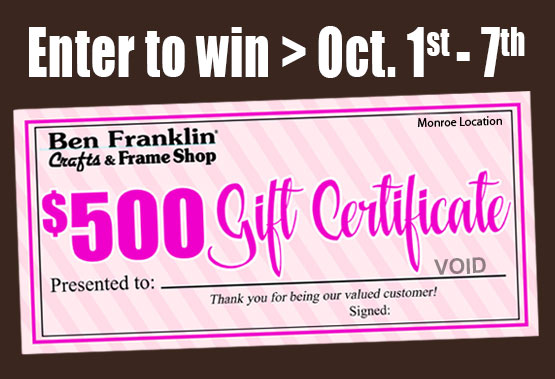 Win a $500 gift certificate