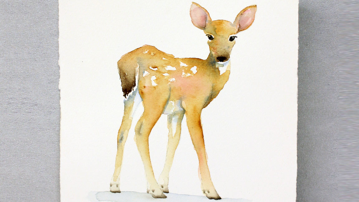 Watercolor Painting Fawn