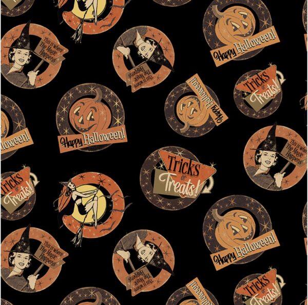 Retro Halloween fabric Y3246-3