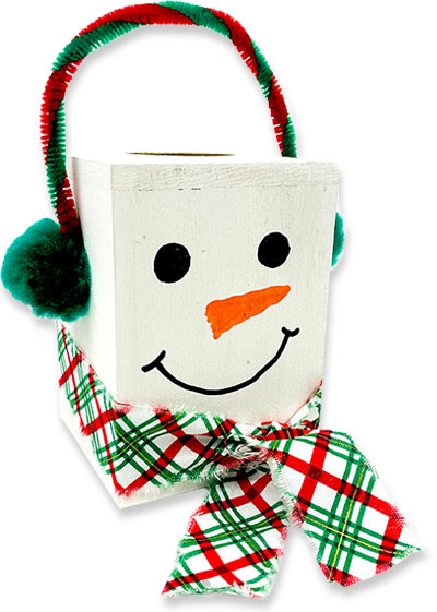 Snowman Candle Block