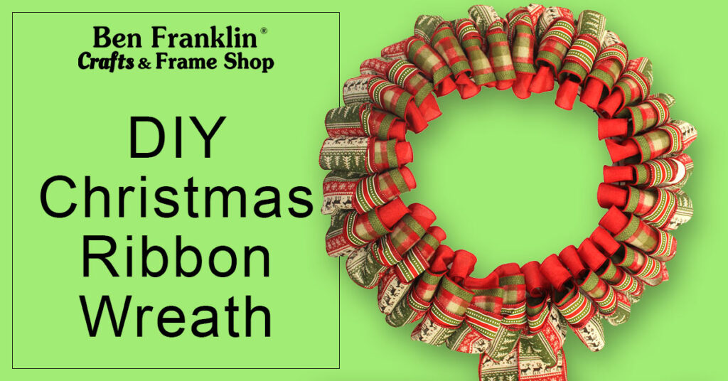 DIY Ribbon Christmas Wreath