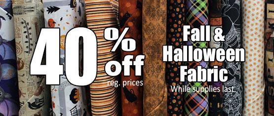 Fall & Halloween Fabric Sale
