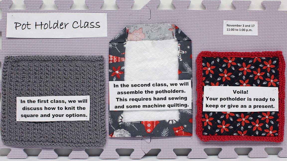 Knitting Pot Holder class