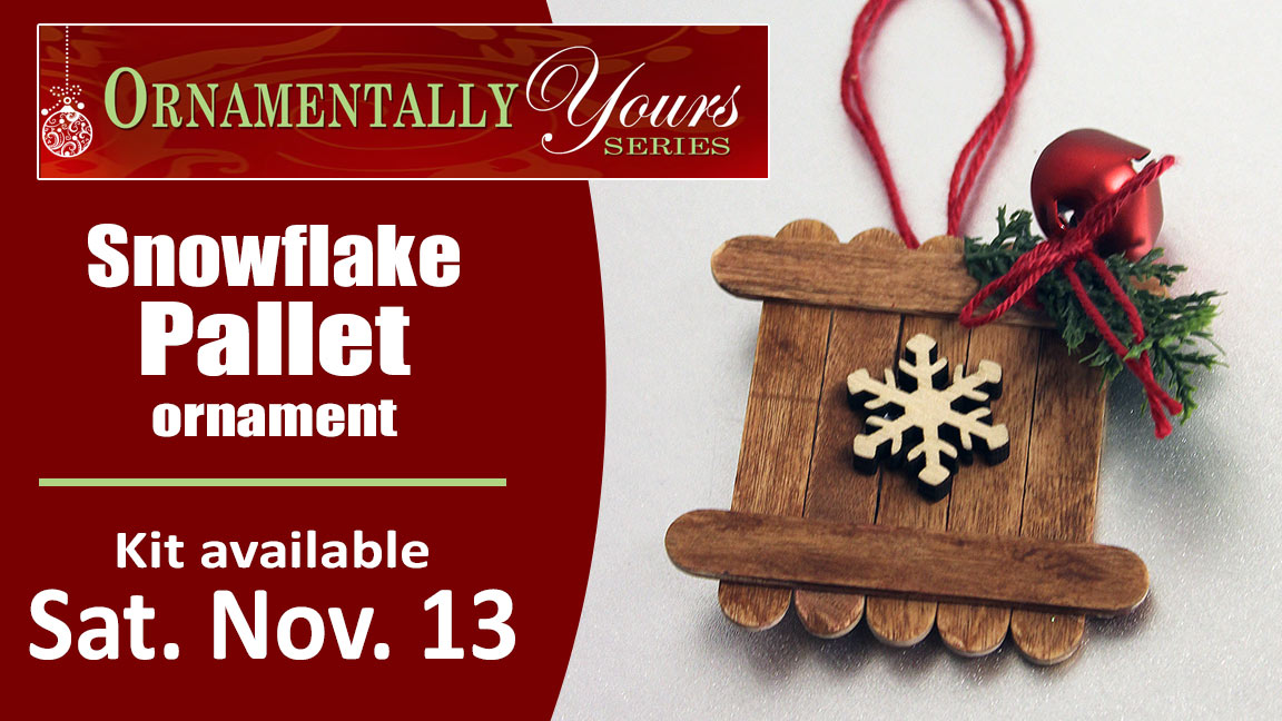 Ornamentally Yours Snowflake Pallet
